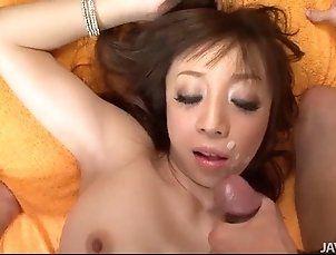 Big titty Mai Serizawa sucks on a hard schlong