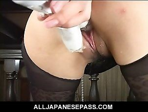 Horny guy pummels a slick pussy with a dildo as she sucks on