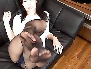 Asian Pantyhose Nylons Feet Soles & Legs Tease