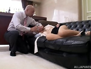 Sleeping Japanese girl Rina Rukawa gets fucked in an office
