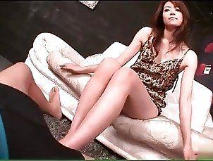 Blowjobs;Foot Fetish;Japanese;Great;Teasing Japanese girl...