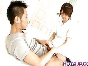 Miriya Hazuki arousing Japanese nurse enjoys her patients ha