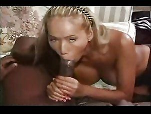 Massive Black Cock Feeding Blonde Asian