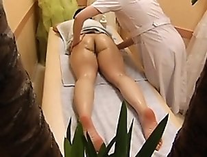 Slender Asian chick gets a massage and it escalates into so
